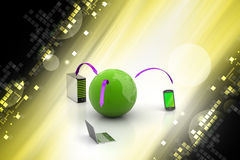 Global network and internet communication concept Stock Image
