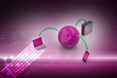 Global network and internet communication concept Royalty Free Stock Image