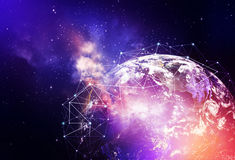 Global network background Stock Images