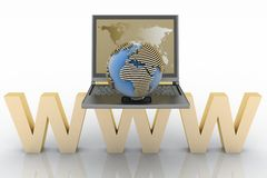 Global network the internet Royalty Free Stock Image