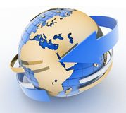 Global network the internet Stock Image
