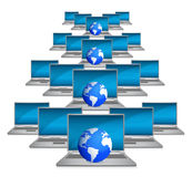 Global network the Internet illustration design Royalty Free Stock Images
