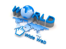 Global network - internet symbols Royalty Free Stock Images