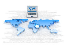 Global network - internet symbols Stock Image