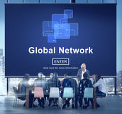 Global Network Internet Technology Online Connection Concept Stock Images