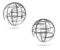 Global network of land on the white background Royalty Free Stock Photography