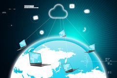 Global network media concept Stock Photography