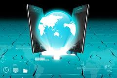 Global network media concept Stock Image