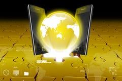 Global network media concept Stock Photo