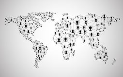 Global network mesh. Earth map. royalty free illustration