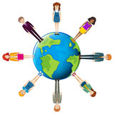 Global network of people Royalty Free Stock Photos