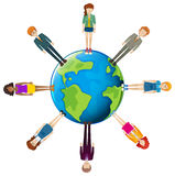 Global network of people Stock Images