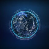 Global network satellite technology of earth Royalty Free Stock Photography