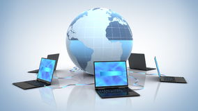 Global Network. Seamless loop 3d animation stock footage