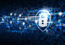 Global network security on digital technology background Stock Photos