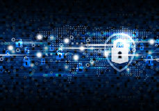 Global network security on digital technology background Stock Image