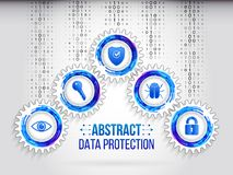 Global network security on the grey background. Royalty Free Stock Images