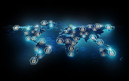 Global network security Royalty Free Stock Image