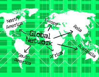 Global Network Shows Worldly Computer And Globalise Royalty Free Stock Photo
