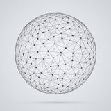 Global network, sphere. Abstract geometric spherical shape with Royalty Free Illustration