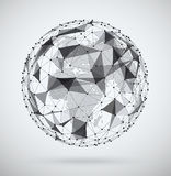 Global  network, sphere with a pixel map inside. Stock Image