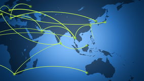 Global Network, Travel, Communications stock video