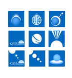Global network web industry logo Stock Photos