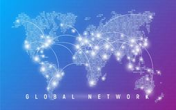 Global network, worldwide communication and connections, interna Royalty Free Stock Photos