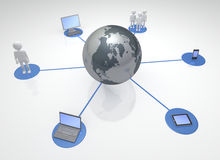Global Networked Devices and Communities Stock Images