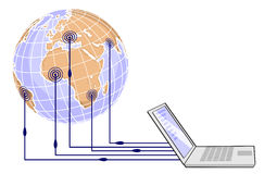 Global networking Stock Images