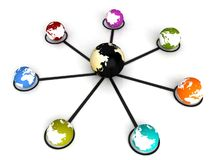 Global networking Royalty Free Stock Photo