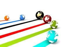 Global networking Stock Photo