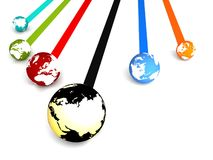 Global networking Royalty Free Stock Photography