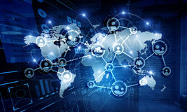 Global networking business Stock Image