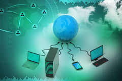 Global networking concept Stock Images