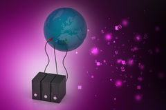 Global networking concept Stock Photos