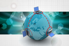 Global networking concept Royalty Free Stock Photography