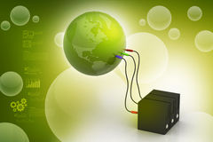 Global networking concept Stock Image
