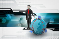 Global networking concept with man Royalty Free Stock Photography
