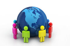 Global networking concept Royalty Free Stock Photos