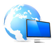 Global Networking Monitor Internet Technology Concept Royalty Free Stock Image