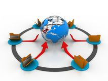 Global Networking. It represents the file sharing. It can be used in business and in web designs Royalty Free Stock Images