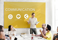 Global Networking Share Social Media Graphic Concept Royalty Free Stock Image