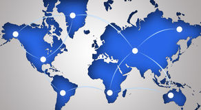 Global networking symbol Stock Photography