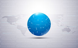 Global networking technology innovation concept design with text texture pattern background Stock Images
