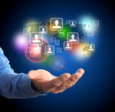 Global networking Stock Image