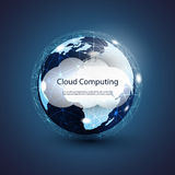 Global Networks, Cloud Computing Illustration Stock Photography