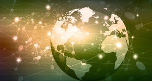 Global Networks concept. On abstract background Stock Photo