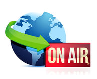 Global news on the air Stock Photos