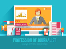 Global news information equipment for journalist Royalty Free Stock Photo